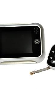 """3.5 """"spioncino digitale lcd visualizzatore 120 ° porta di colore video campanello occhio della telecamera ir argento"""