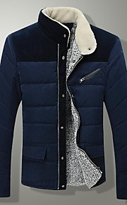 Men's Warm Collar  Thick Coat