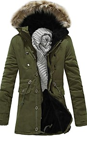 Men's New Autumn Winter To Keep Warm Hooded Cotton Coat