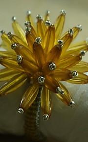 fiore di cristallo tovagliolo anello di molti strati in molti colori, acrilico, 4,5 centimetri, set di 12