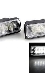 2 stuks witte 18 geleid 3528 smd aantal kentekenverlichting lamp voor benz w203 w211