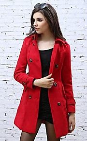 Women's lapel Double Breasted Slim  Coat(More Colors)