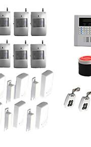 trådløs quad band gsm PSTN hjem hus sikkerhed alarm indbrudstyv auto dialer-systemet
