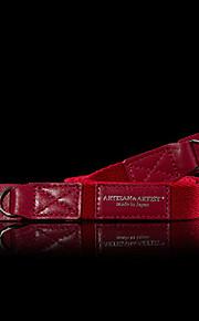 acam102 nylon + ægte læder skridsikker kamera rem