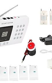 trådløs 99 zoner pir hjem sikkerhed tyverialarm system auto opkald dialer