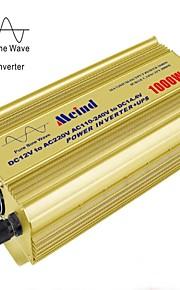 meind® inverter 1000W ren sinusbølge med oplader&ups 12V DC til 220V konverter bil invertere mz1ku