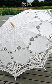 שמשייה כלה חתונה מטרייה בצבע בז 'וינטאג' battenburglace הסגנון