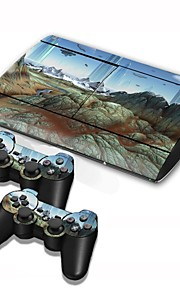 PS3 Slim 4000 Console Protective Sticker Cover Skin Controller Skin Sticker