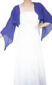 3/4 longueur manches en mousseline de soie manches de corne de mariage / enveloppements occation spéciales (plus de couleurs) bolero haussement