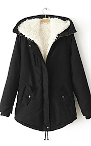 Women's Hoodie Lamb Fur  Leisure Cotton Coat