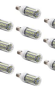 Ampoules Maïs LED Blanc Chaud / Blanc Froid 10 pièces T E14 7W 56 SMD 5730 600 LM AC 100-240 V