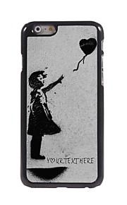 personlig telefon sag - flyvende hjerte design metal tilfældet for iPhone 6