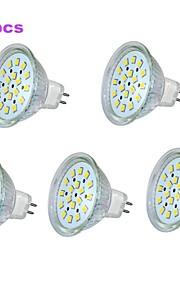 Spot/Ampoule Maïs/Projecteurs PAR Décorative Blanc Chaud 5 pièces MR16/PAR GU5.3 3 W 18 SMD 260 LM 3000-3500 K AC 24 V