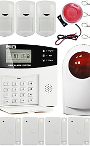 LCD GSM Home Burglar Security Fire Alarm System Autodial With Smoke Detector GS-G110E