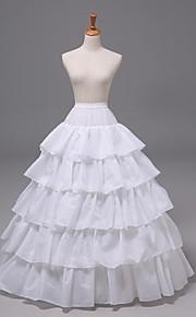 mariage 5 niveaux de plancher-longueur jupons en nylon glissades