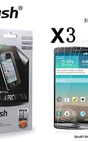 hög transparens matt LCD skärmskydd för lg g3 (3 st)
