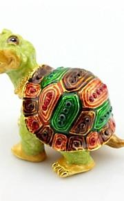 boîte de bibelot de tortue heureuse