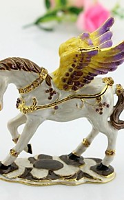 """blanc volant cheval Pégase bijoux en métal bijou figurine 3,5 décoré """""""