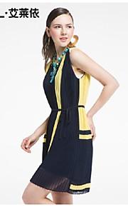 Women's Blue/White Dress , Bodycon/Casual Sleeveless