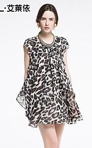 Women's Casual/Daily Dress Above Knee Short Sleeve Black Summer