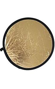 80 cm 2 i 1 guld sølv illuminator reflektor (guld)