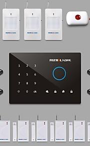 gsm Smart Touch alarmsystem, med håndfri telefonopkald funktion, Ios&android smarte app g2d