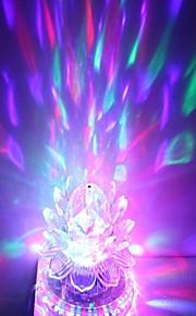 wir stecken 3x3w hohe Leistung RGB-LED-Kristall Magie und Sonnenblumen Bühne Licht rotierenden Lampe (85-265V)