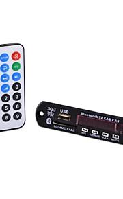 011-sd bluetooth mp3-decodering boord module w / sd-kaartsleuf / usb 2.0-poort / fm / afstandsbediening (zwart)