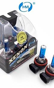 HM® faros lámpara halógena de 35w 12v bombillas blancas h8 plasma xenón (un par)