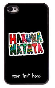 מקרה עיצוב Matata מתכת מותאם אישית מקרה Hakuna עבור 4 / 4S iPhone
