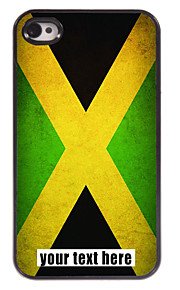 персонализированные случае Флаг Ямайки дизайн металлического корпуса для iPhone 4 / 4s