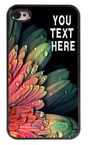 персонализированные случай элегантный цветок дизайн корпуса металл для iPhone 4 / 4s