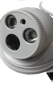 1.3 megapixel cctv ip camera h.264 dual stream 4mm dag / nacht waterdichte dome ip camera en ondersteuning van mobiele detectie