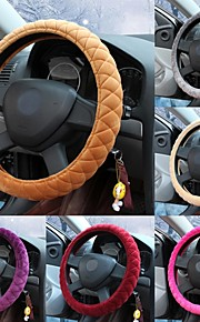 LEBOSH®Super Soft Crystal Velvet Steering Wheel Covers 9 Color for Choose 38cm