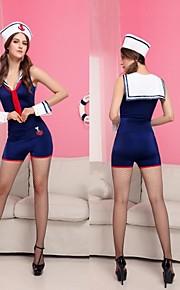 niebieski poliestrowe jednolite żeglarz sexy halloween kostiumy kobiet