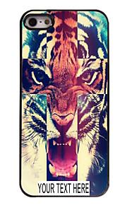 gepersonaliseerde geval tijger patroon metalen behuizing voor de iPhone 5 / 5s