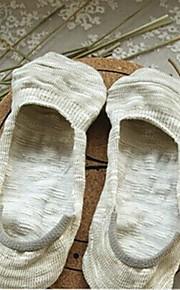 Frauen aus 100% Baumwolle Garn bunchy Boot kurze Socken mit Anti-Rutsch-Silikagel