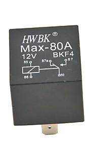 auto auto plastic 5 pinnen 80a amp 12v alarmrelais-zwart (12v)