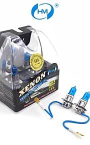 HM® faros lámpara halógena de 100w 12v bombillas blancas h3 plasma xenón (un par)