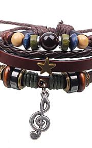 Браслеты-цепочки и звенья / Браслеты с подвесками / Wrap Браслеты / Кожаные браслеты 1шт,Кроссовер / Модно / Винтаж / Панк / Регулируется