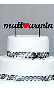 toppers עוגת עוגת צילינדר עץ מותאם אישית