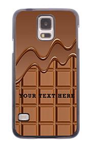 パーソナライズされた携帯電話のケース - サムスンギャラクシーS5 i9600用のチョコレートのデザインメタルケース