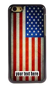 gepersonaliseerd geval Amerikaanse vlag ontwerp metalen behuizing voor de iPhone 5c