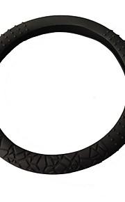 rubber milieu modieuze stuurwiel decoratieve dekking voor elke auto, zwart,