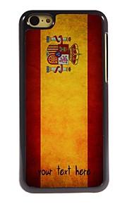 gepersonaliseerd geval spaanse vlag ontwerp metalen behuizing voor de iPhone 5c