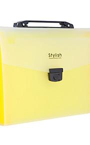 תיקיית נייר A4 פלסטיק צהוב בית ספר הנייד