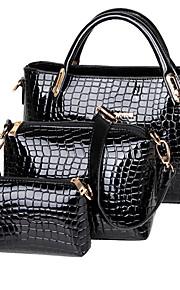 Women PU / Patent Leather Baguette Shoulder Bag / Tote - Blue / Red / Black