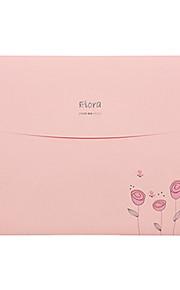 תיקיית A4 הקוריאנית פרח רומנטי נייר לנערות (5pcs / צבע אקראי)