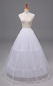 Déshabillés ( Nylon/Satin/Organza , Blanc ) - Robe trapèze - 2 - 40inch(Approx.101.6cm)