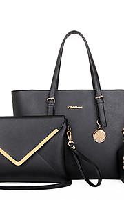 Women PU Barrel Shoulder Bag / Tote - Beige / Blue / Black